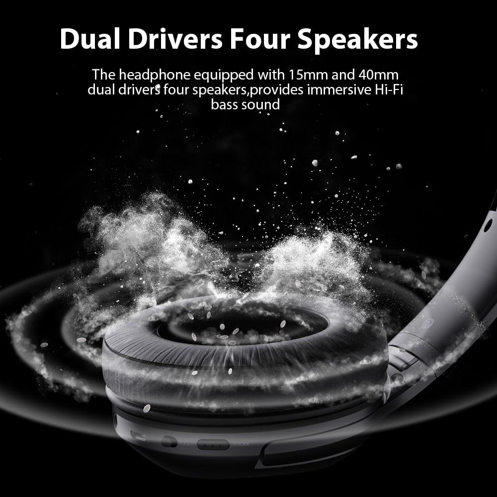 Image 2 - Dacom HF002 Headphones Bluetooth Earphone Wireless Headphone Over Ear Headset 5.0 Head Set Phones with Mic For Phones Computer-in Phone Earphones & Headphones from Consumer Electronics