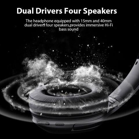 Dacom HF002 Headphones Bluetooth Earphone Wireless Headphone Over Ear Headset 5.0 Head Set Phones with Mic For Phones Computer Lahore