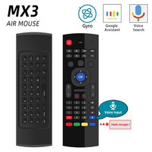 MX3 MX3 L Backlit Air Mouse Universele Smart Voice Afstandsbediening 2.4G Rf Wireless Keyboard Voor Android Tv Box H96 max X96 Mini