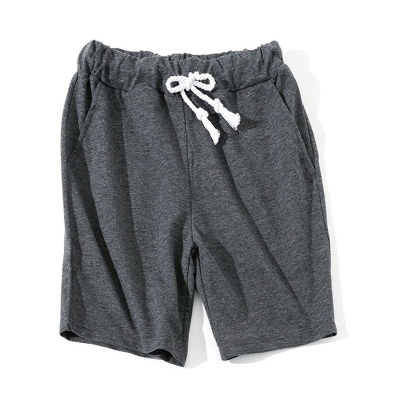 Men Shorts 2019 New Summer Solid Color  Cotton Keen Length  Sweatpants Rich Color Short Masculino