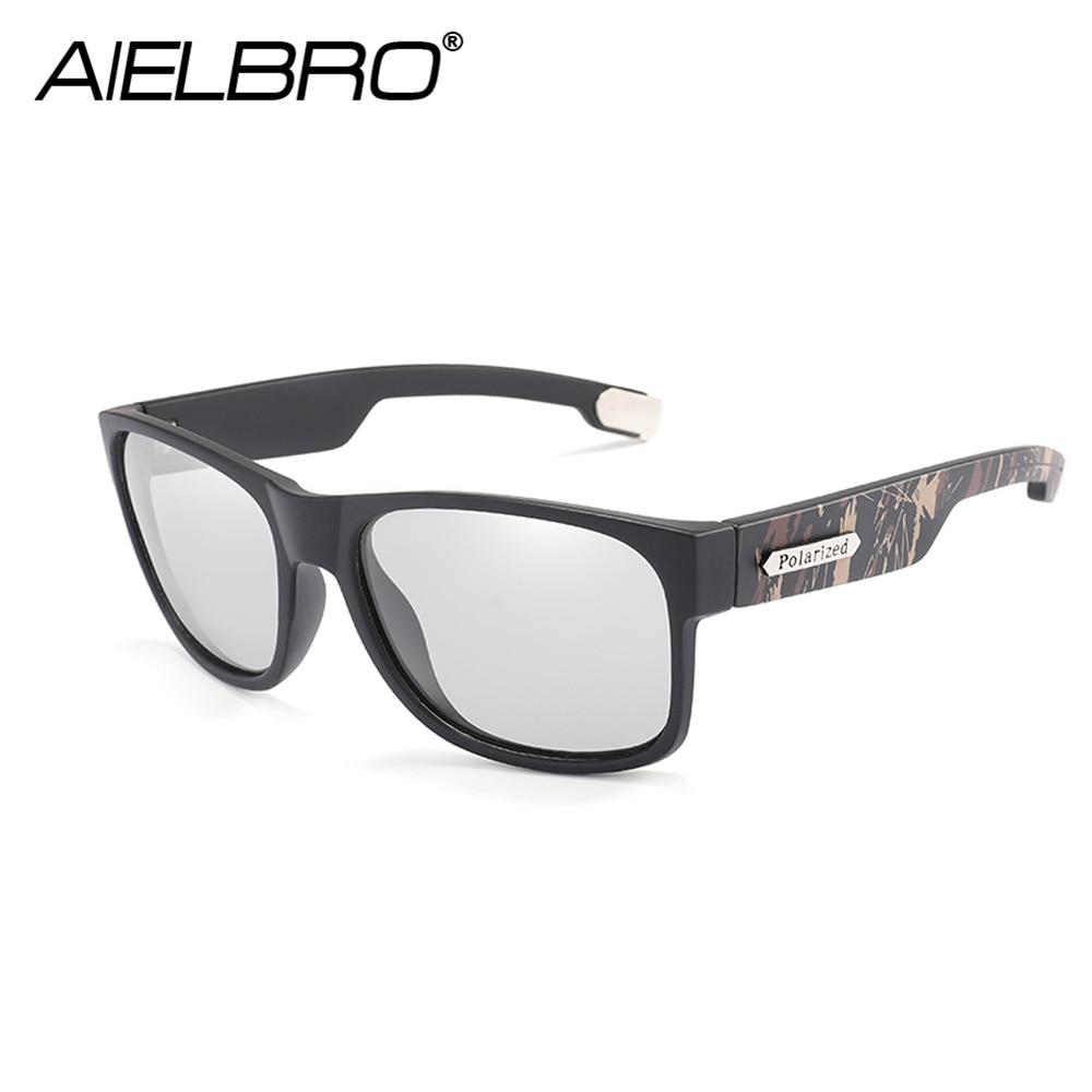 Купить с кэшбэком 2019 Brand Design Polarized Sunglasses Men Photochromic Driver Shades Male Vintage Sun Glasses Spuare Mirror Summer UV400 Oculos