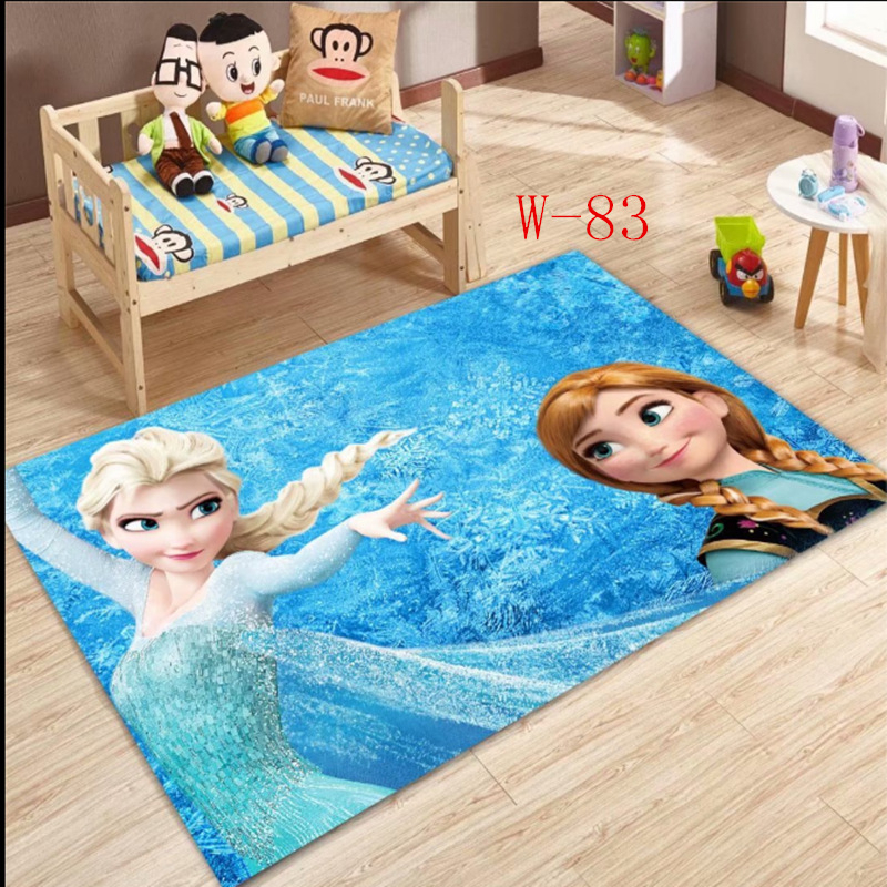 Disney Frozen Elsa Anna Rug  Princess Cute Children Room Carpet  Fairy Tale Girl Bedroom Living Room Blanket Door Mat Outdoor