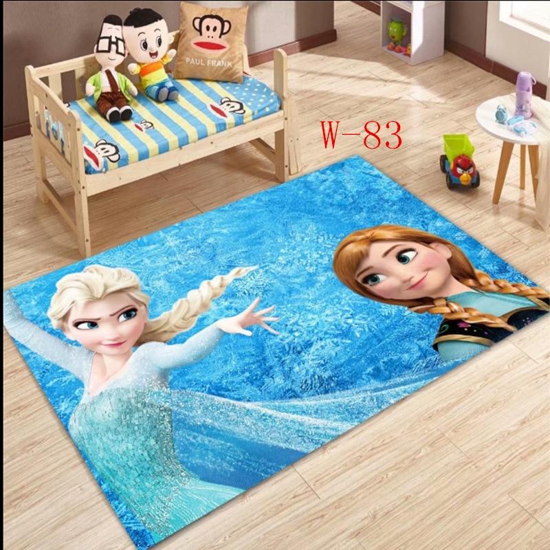 Disney Frozen Elsa Anna Rug  Princess Cute Children Room Carpet  Fairy Tale Girl Bedroom Living Room Blanket Door Mat Outdoor