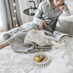 130x170 см теплая хлопковая шаль акриловая однотонная накидка для дивана вязаное одеяло повседневное туристическое одеяло домашний текстиль