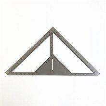 Экономичная многофункциональная линейка для плитки, линейка для слива полов, каменный слой из нержавеющей стали, треугольная линейка, цветок, строитель