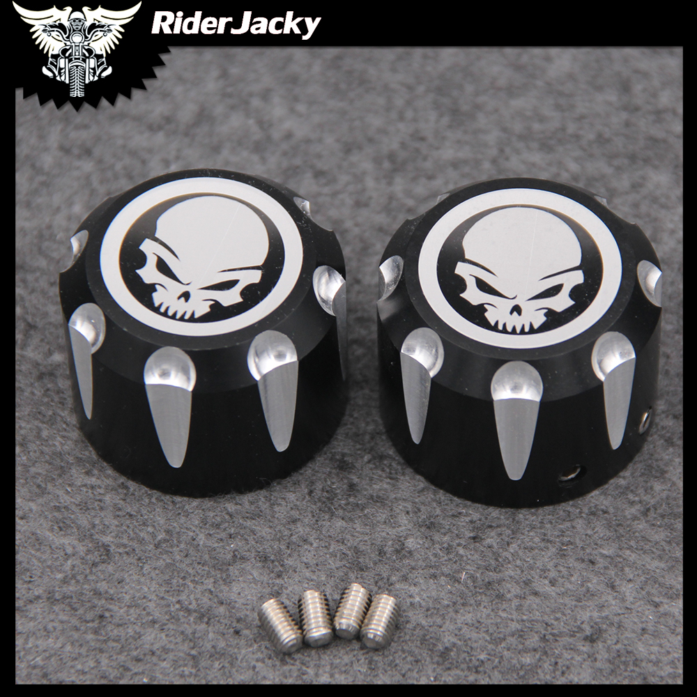 For Harley Sportster XL 883 1200 Touring Electra Glide Softail Dyna <font><b>Street</b></font> 500 750 <font><b>XG750</b></font> XG500 Front Axle Cap Nut Cover Bolt image