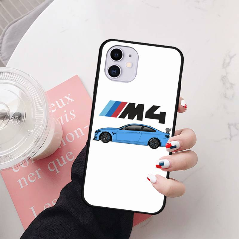 for iphone 11 PRO MAX X XS XR 4S 5S 6S 7 8 PLUS SE 2020 cases cover Bmw blue red sports phone case image