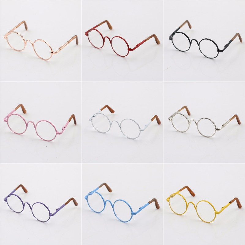 Round-Shaped Round Glasses Colorful Glasses Sunglasses Suitable For Doll