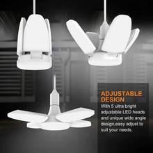 Супер яркий промышленный светильник ing 38W E26, светодиодный гаражный светильник, профессиональный деформируемый складной светодиодный венти...
