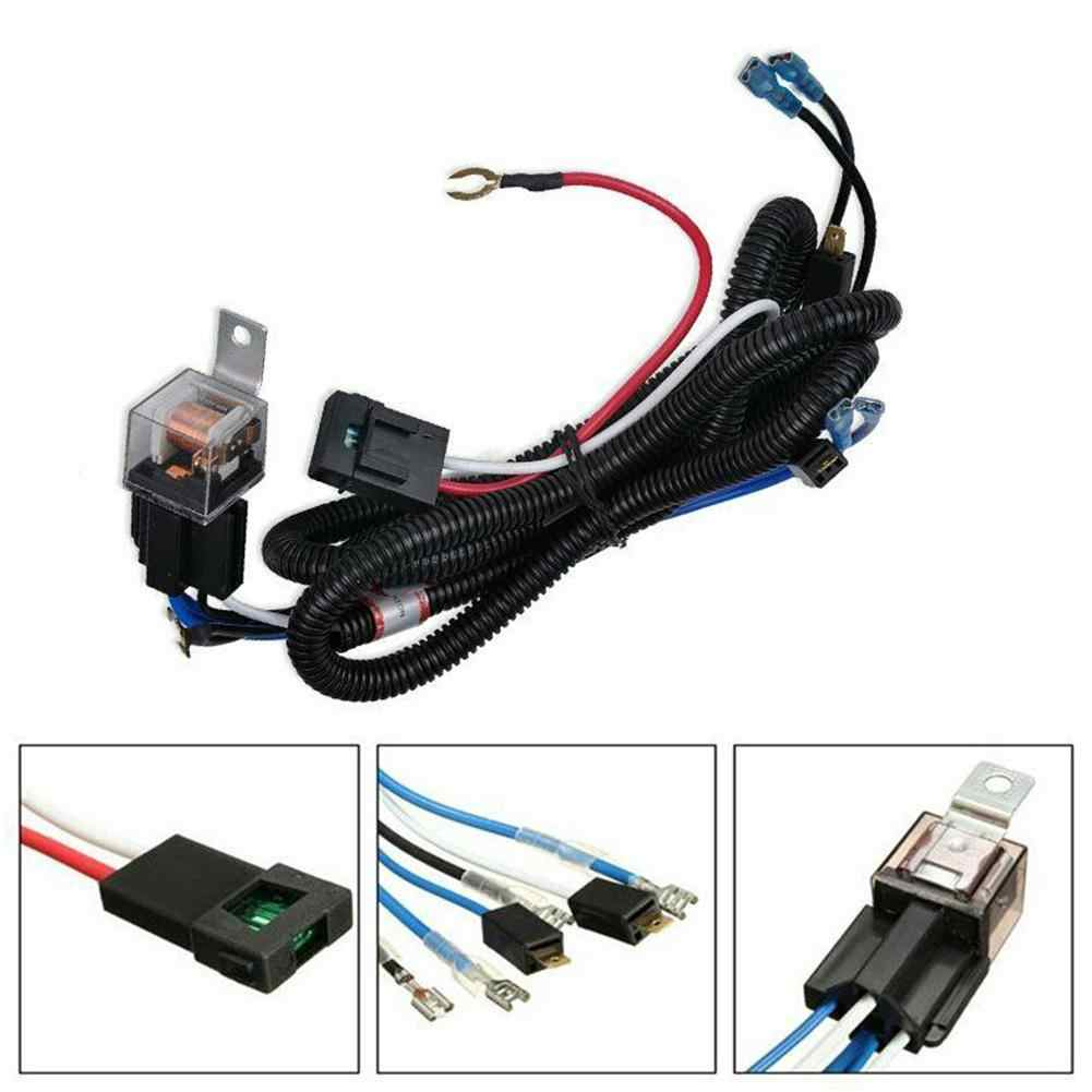 40V Car Horn Modified Wiring Harness Car Modification Parts Car  Modification Line Universal Type Harness Relay Kit Car Accessory