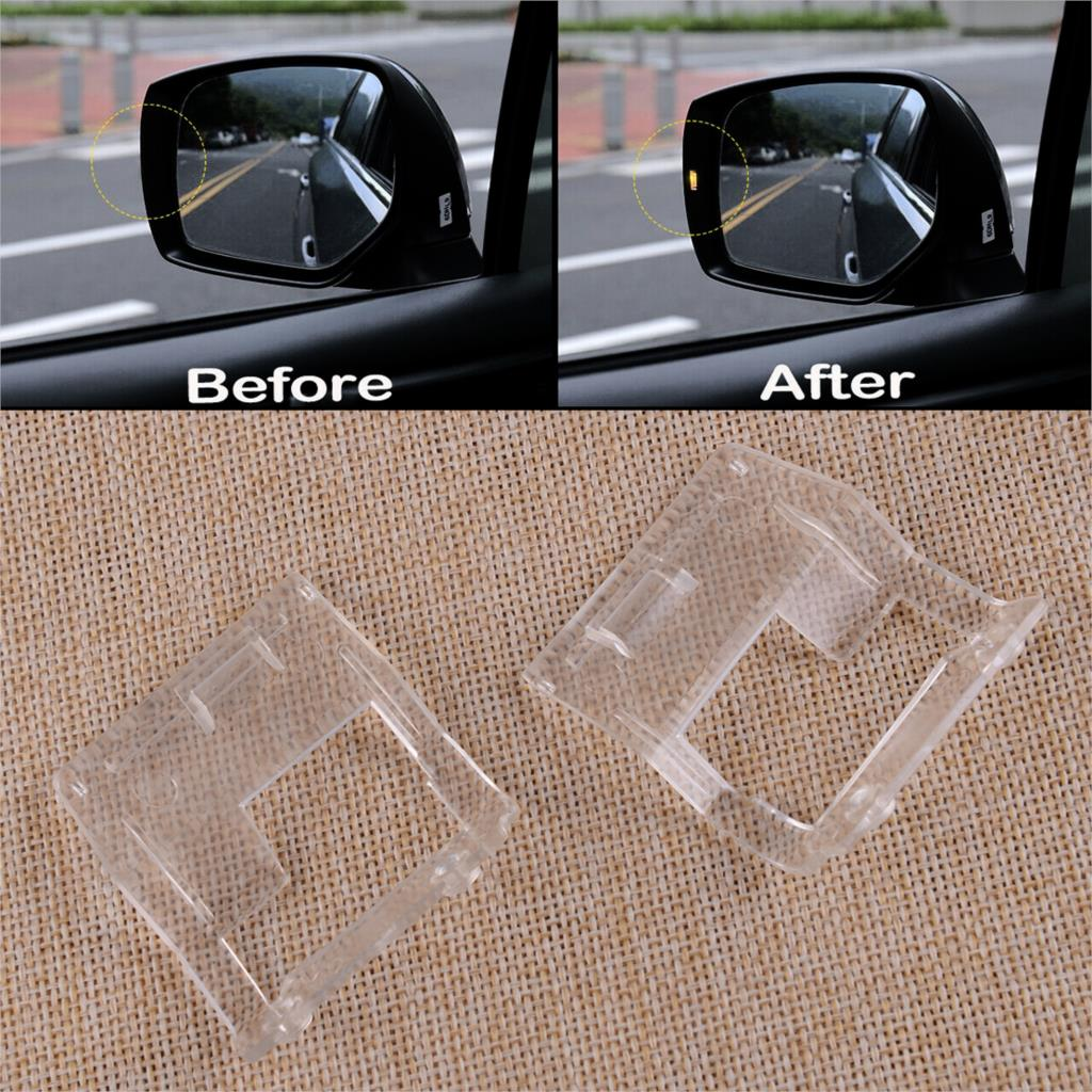 DWCX 2pcs Clear PC Side Mirrors Assistant Turn Signal Light Indicators Lens Fit For Subaru Forester XV 2015 2016 2017 2018 2019