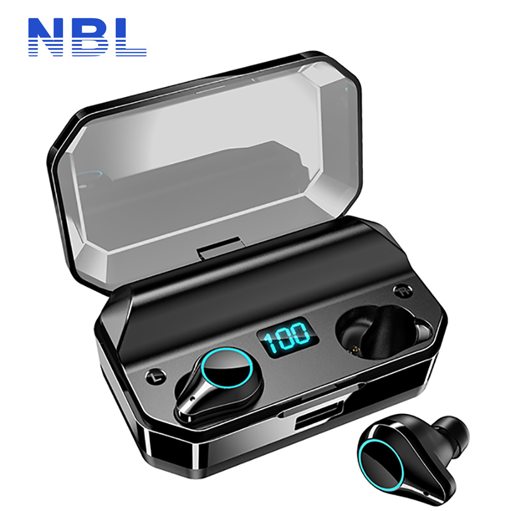 T9 TWS sans fil Bluetooth écouteurs 9D stéréo IPX7 étanche 7000mAh LED batterie externe intelligente écouteurs support pour téléphone