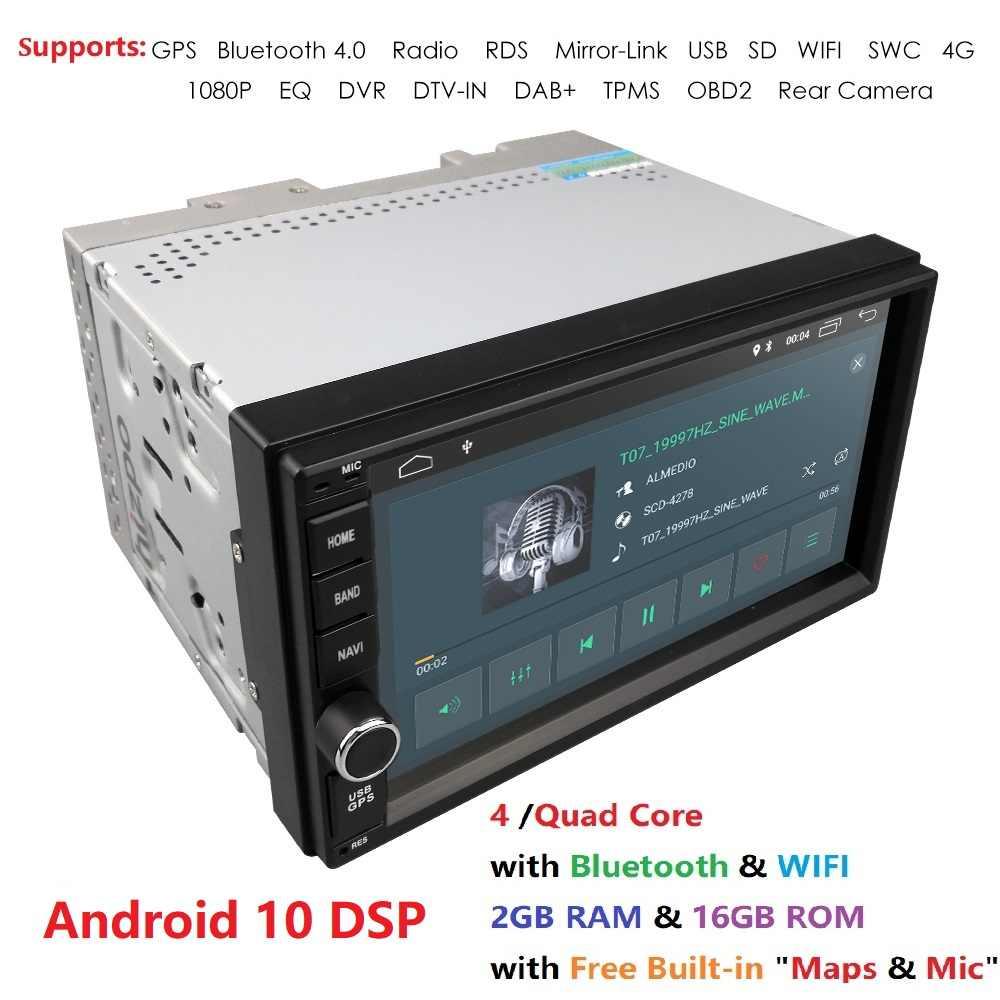 2 グラム Ram アンドロイド 10 自動ラジオクアッドコア 7 インチ 2DIN ユニバーサル車なし DVD プレーヤー GPS ステレオオーディオヘッドユニットサポート DAB DVR OBD BT