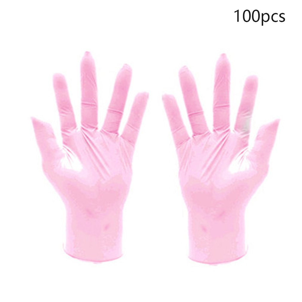100pcs Wear Resistance Nitrile Disposable Gloves Food Medical Testing Household Cleaning Washing Gloves Anti-Static Gloves