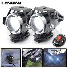 1 PCS Motorcycle Headlights Auxiliary Lamp U5 Cree Led Chip Motobike Spotlights Accessorie Moto DRL Fog Spot Head Light 125W 12V