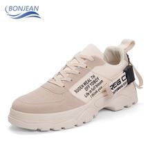 BONJEAN новые стильные мужские скейтбордингом обувь на открытом воздухе удобные пешеходные спортивные беговые тренажеры туфли