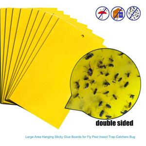 1PCS yellow sticky paper insect trap catcher summer pest killer pest control home garden supplies fast delivery