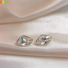 Kshmir белые серьги с кристаллами женские корейские новые модные