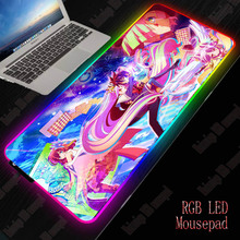 XGZ No Game No Life Gaming Mouse Pad RGB Large Mouse Pad Gamer Anime Mouse Mat Computer Mousepad Led Backlight Keyboard Desk Mat xgz one piece naruto gaming rgb large anime mouse pad gamer big mat computer pad led backlight keyboard desk