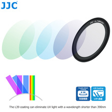 JJC L39 Ultra cienki wielowarstwowy filtr UV do Ricoh GR III GR II GR3 GR2 GRIII GRII kamery optyczny szklany obiektyw aparatu filtry