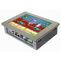Fanless mini pc 10.4 inch intel celeron J1900 processor touch screen industrial panel pc for kiosk & POS system