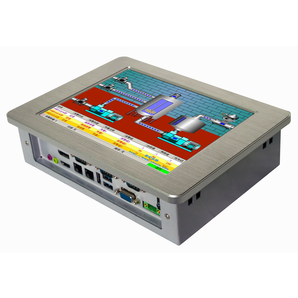 Fanless mini pc 10,4 zoll intel celeron J1900 prozessor touchscreen industrie panel pc für kiosk & POS system