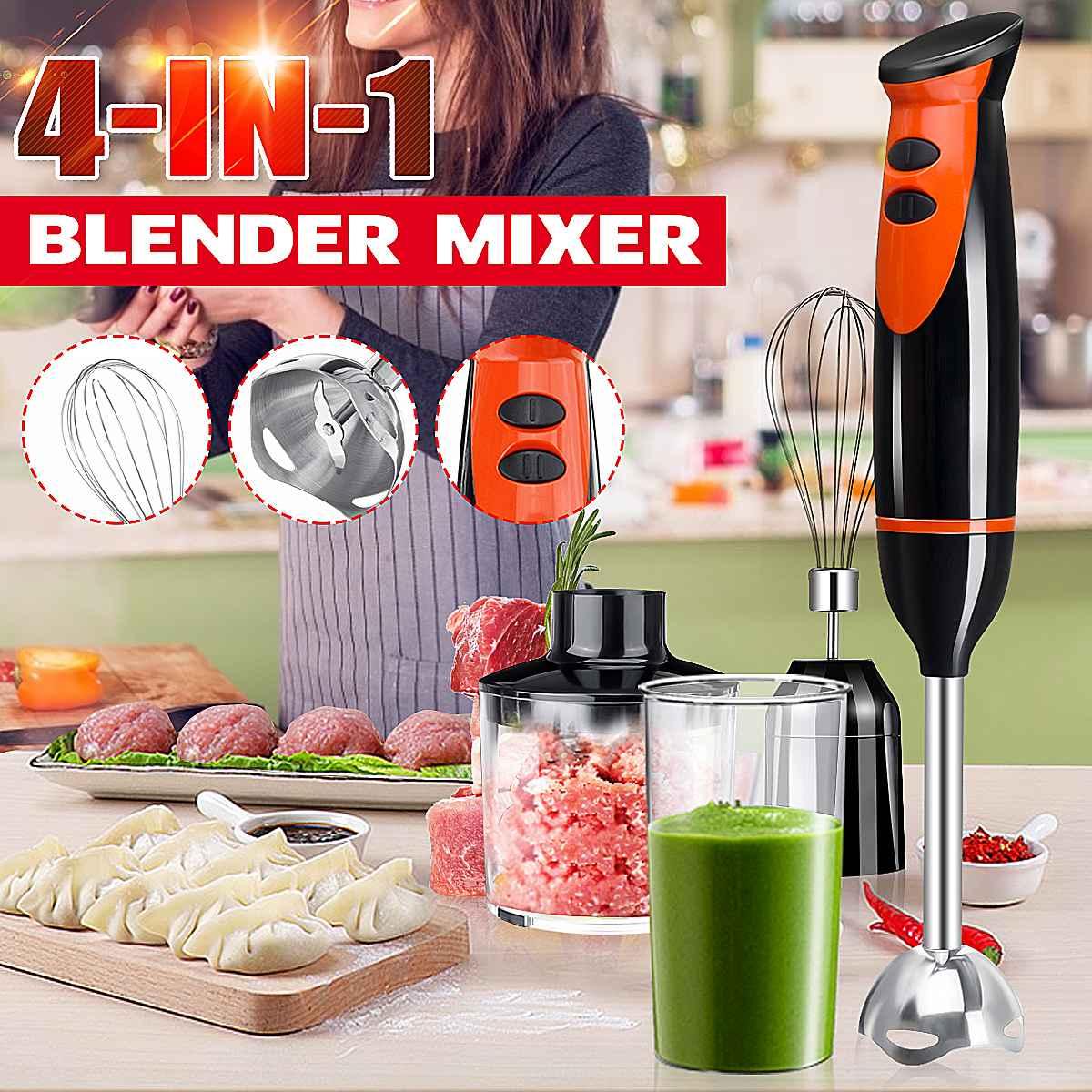 220V 4-in-1 Stainless Steel Handheld Blender Mixer Vegetable Meat Grinder Beef Detachable Egg Beater Electric Food Processor