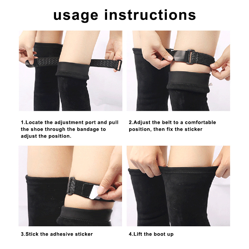 Non-slip Tape Adhesive Straps Set For High Boots Anti Slip Anti Dropping Belt XIN-Shipping