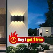 LED duvar lambaları IP65 su geçirmez kapalı dış aydınlatma alüminyum duvar lambaları ev oturma odası yatak odası için LED bahçe sundurma ışık