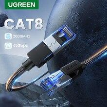 Ugreen – câble Ethernet Cat8 SFTP Lan RJ45, cordon de raccordement pour PlayStation PS 4, routeur et ordinateur portable