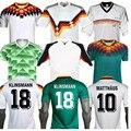 Ретро 1990 Klinsmann 18 Littbarski Matthaus 10 1994 Voller Классическая винтажная мужская рубашка