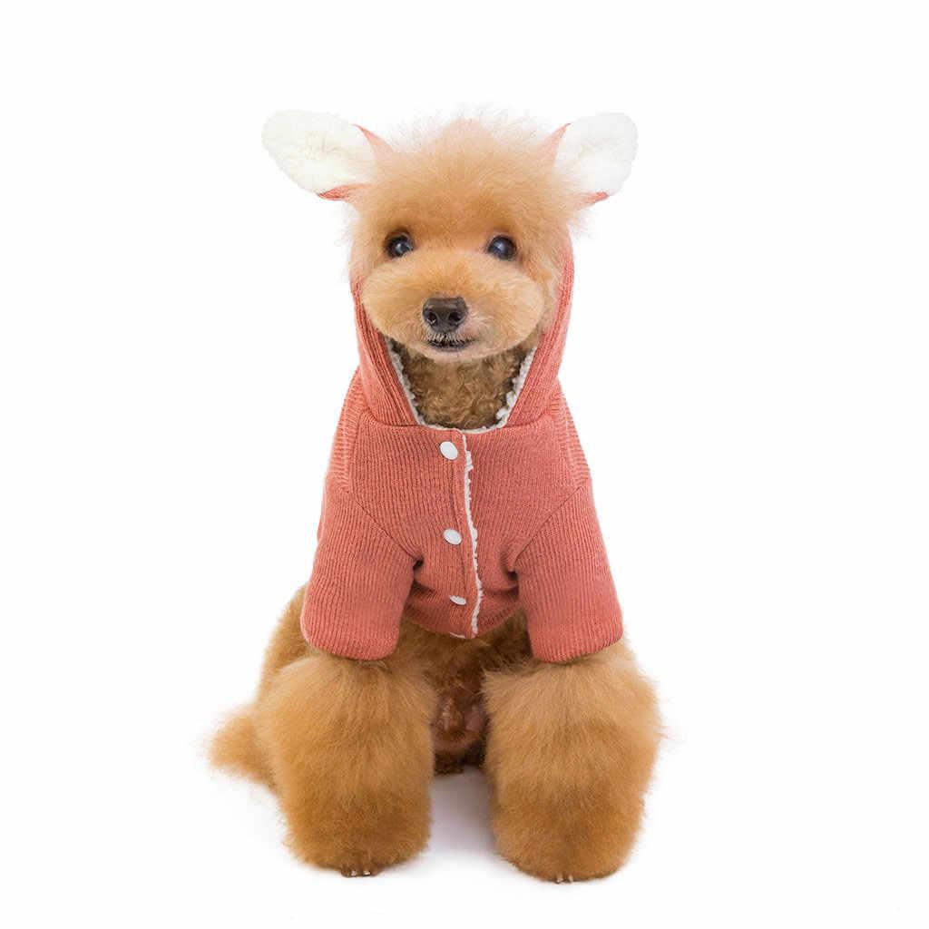 Quatre jambes chien vêtements Teddy poméranien bouledogue français Chihuahua automne chiot hiver chat vêtements pour animaux de compagnie petite salopette en Denim