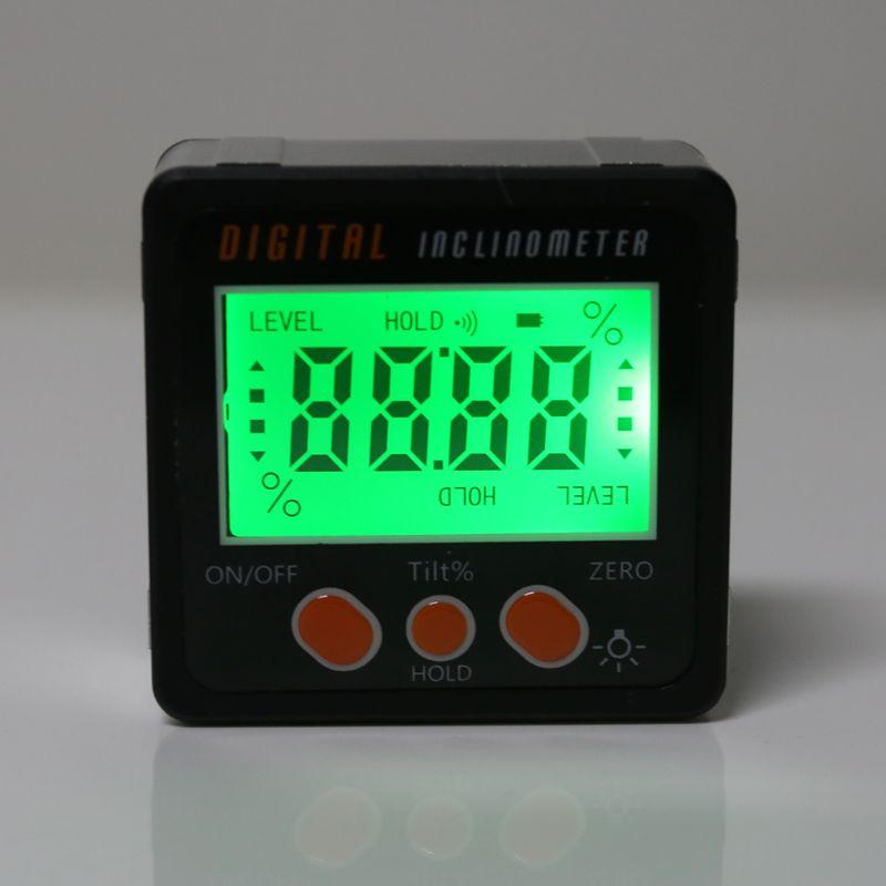 Digital Inclinometer Electronic Protractor Aluminum Alloy Shell Bevel Box Angle Gauge Meter Measuring Tool 19QB