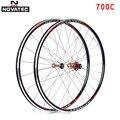 Novatec колеса для шоссейных велосипедов с подшипником 700C колеса из алюминиевого сплава 7-11 скоростей V тормоз клинчер передний задний 20 24H вело...