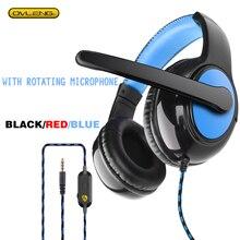 OV P12 Stereo Gaming Headset Ovleng Met Microfoon 3.5Mmwire Controle Noise Cancelling Hoofdtelefoon Geschikt Voor Pc Smartphone