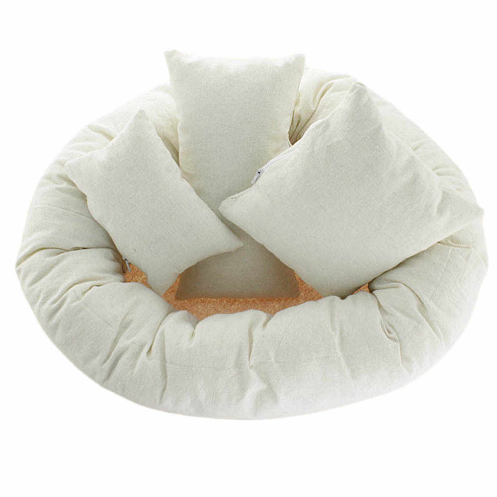 Fotografía recién nacido cesta relleno trigo Donut Posing Props bebé protetor de cabeca cadeirinha de bebe decoración almohada de enfermería