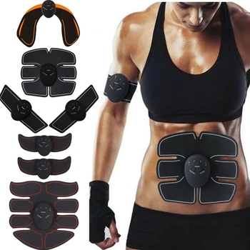 ABC Wireless Muscle Stimulator EMS Abdominal Muscle Trainer Toner Body Fitness Hip Trainer Shaping Patch Sliming Trainer Unisex 1