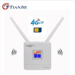TIANJIE RJ45 WAN/LAN Router 4G WIFI LTE Unlock CPE 300Mbps wireless Sim card+Antennas+Ethernet port Hotspot Modem Dongle Router