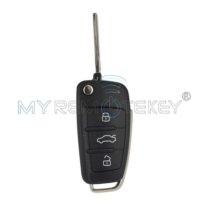 Flip car remote key 8P0 837 220 D for Audi A3 TT 2006 - 2013 434 mhz ID48 HU66 3 button remtekey