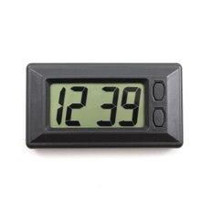 Ultra-thin Mini Auto Car Dashboard Electronic LCD Digital Display Clock Calendar