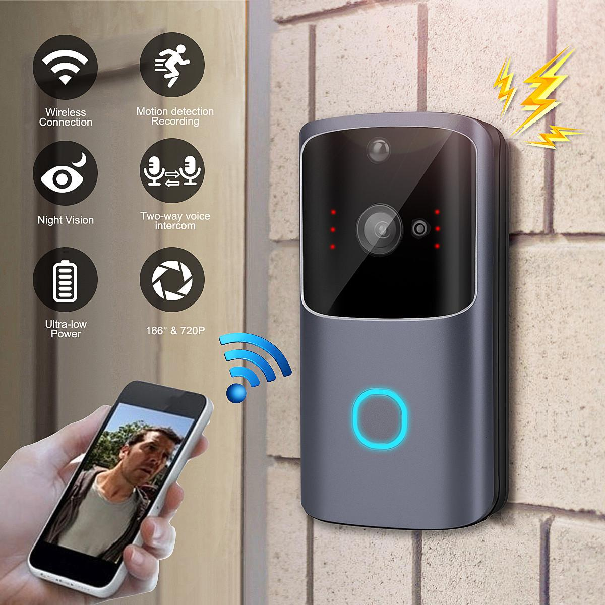 M10 Video Wifi Doorbell Wireless 720P HD 15fps Smart Home IP Door Bell Camera Security Alarm IR Night Vision