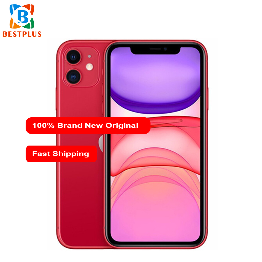 "2019 New Apple iphone 11 A2223 Mobile Phone 6.1"" 4GB RAM 64GB ROM Hexa-core iOS 13 3046 mAh IP68 waterproof Dual SIM Smart Phone"