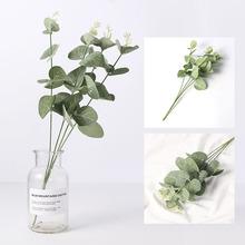 DIY sztuczne rośliny ślubne dekoracje kwiatowe wieńce sztuczne róże liść jedwabne liście kompozycja kwiatowa akcesoria Home Decor tanie tanio Pulpit Z tworzywa sztucznego Oddział