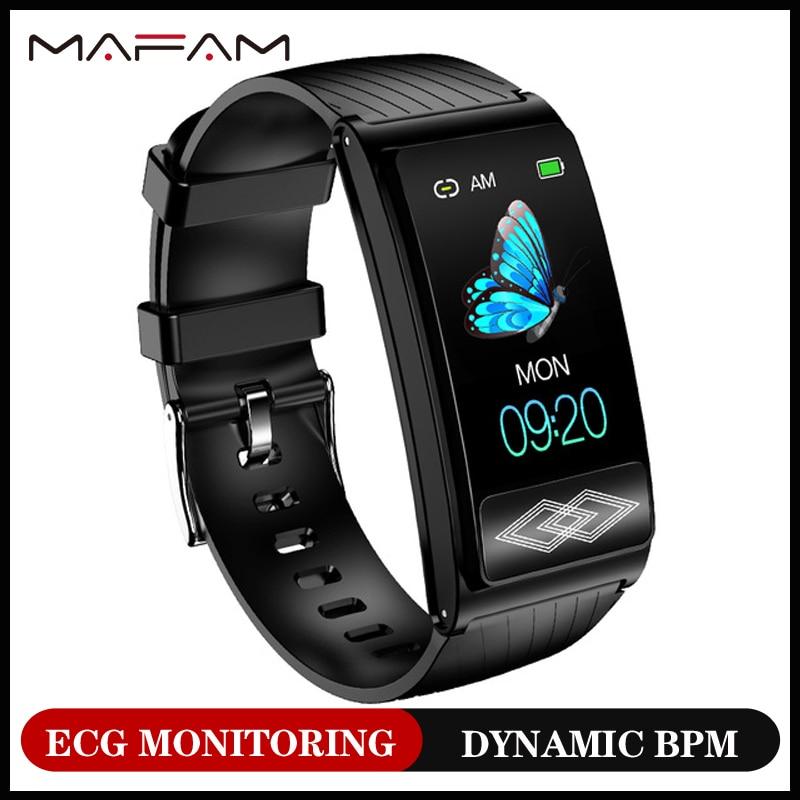 MAFAM P10 суперточная схема Lorentz умные часы браслет 24 часа динамический ЭКГ мониторинг фитнес-трекер для мужчин женщин