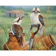 5D DIY Diamond Painting Full round/square Drill Mosaic Diamond Cross Stitch landscape bird 3D Embroidery Home Decorative M222(China)