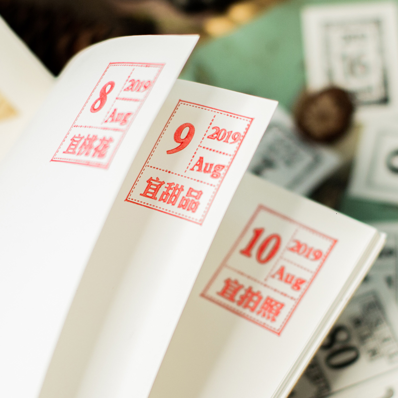 JIANWU 1pc Transparent Silica Gel Date Stamp Greetings Seal For Photo Album Paper Craft Decorative DIY Stamp Schedule Planner