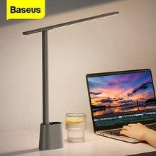 Baseus led candeeiro de mesa inteligente brilho automático quarto cabeceira escritório estúdio estudo luz da noite recarregável olho proteger lâmpada de mesa