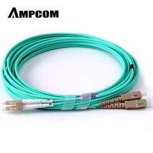 Волоконно-оптический кабель, AMPCOM 10G гигабитные волоконно-оптические кабели с LC в SC многомодовый OM3 дуплексный 50/125 LSZH