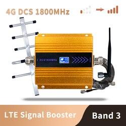 3G 4G Lte Dcs 1800 Mhz Moblie Điện Thoại Booster Gsm 1800 Lặp Tín Hiệu Tế Bào Điện Thoại Khuếch Đại Mạng 65dB Tăng Màn Hình Hiển Thị LCD
