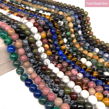 цена Natural Stone Jasper Agate Crystal Round Beads Diy Bracelet Necklace for Jewelry Making 15